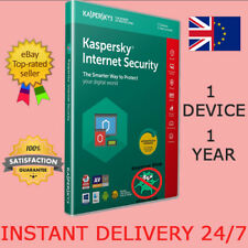 Kaspersky Internet Security 2019 Antivirus 1 Device/1 Year/UK/EU INSTANT E-MAIL