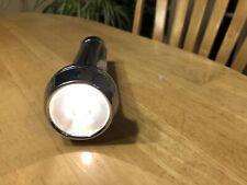 Vintage Homart Explorer Flashlight Chrome Brass - Use D Batts 7.5 inches, Works