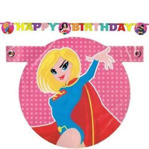 Justice League Girls DC Comics Superhero Kids Birthday Party Decoration Banner