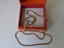 Vintage Soviet Solid Rose Gold Chain Necklace 14K 583 Star 16.02 gr Russian USSR