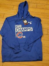 "Nike Chicago Cubs Therma Fit Hoodie Men's XL Blue ""2016 World Series Champs"" NWT"