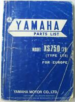 YAMAHA XS750 '78 Type 1T5 1978 Illustrated Motorcycle Parts List