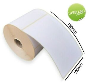 """4 x 6"""" 100mm x 150mm thermal labels 500 roll royal mail hermes UPS shipping"""