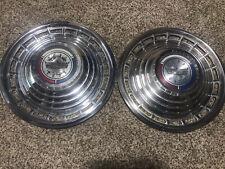 Pair 21963 Ford Galaxie Fairlane 500 Hubcaps 14 Hub Caps Hubcaps 63