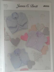 Childs  cardigans and Waistcoat size 12-22  knitting pattern number JB233