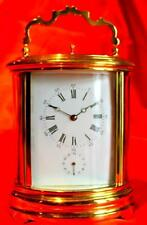 Brass French Antique Mantel & Carriage Clocks with Alarm