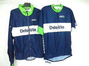 LOUIS GARNEAU Lot of 2 CYCLING JERSEY + JACKET Deloitte Size Large