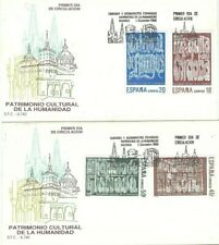 Spd Fdc First Day Cover Spain Edifil #2978-2981 Heritage of the Humanity 1988