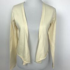 Gap Women's Size Medium Yellow Open Cardigan Sweater Cotton Angora Blend
