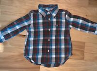 RALPH LAUREN BABY BOYS BLUE & RED PLAID FLANEL SHIRT SIZE 18M EXCELLENT COND LD2