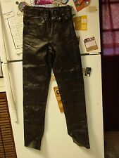 leather jean style pants size 28