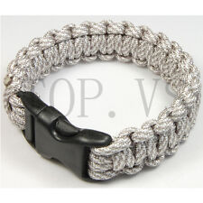 Paracord 550 Camping Para cord Bracelets Buckle Survival Hiking Hunting #4