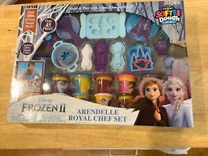Disney Frozen 2 Cra-Z-Art SOFTEE DOUGH NON-TOXIC Royal Chef Set Ana Elsa Olaf