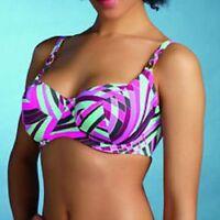 Womens/Ladies Freya Velocity Underwire Balcony Bikini Top Purple 8124 Size 30DD