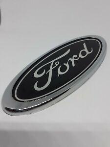 150mm x 60mm Ford badge Emblem Black silver front/rear Logo mondeo transit focus