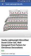 Vaulia Lightweight Microfiber Duvet Cover Set, raindeer Pattern Design for New