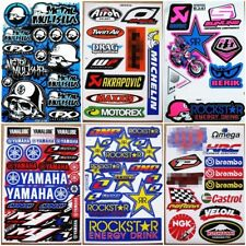 Nascar Moto-GP Supercross Dirt Bike Motocross ATV Racing Car Stickers 6 sheets