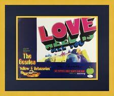 Ron Campbell Beatles Yellow Submarine Signed Lobby Card L/ED Set Custom Framed 1