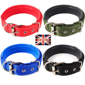 Dog Collar XXL Nylon Adjustable Collars 4 colours UK Pet Walk Accessories
