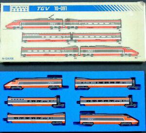 10-091 TGV Kato N Gauge Basic 6 Car Set w Locomotives SNCF Livery Vintage Boxed