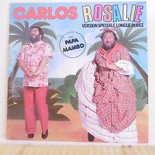 """33T CARLOS Vinyle LP 12"""" ROSALIE Longue Durée PAPA MAMBO - SONOPRESSE 16678"""