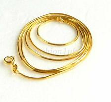 """Men Women 24K Yellow Gold Plated Snake Rope Chain Necklace 70cm 27.5"""" Very Long"""