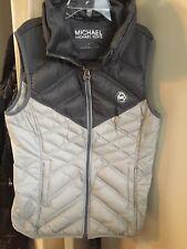 Michael Kors Womens Medium Down Vest Gray Warm Cute Excellent Condition