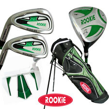 JUNIOR LH GOLF SET GREEN 5 PCE for KIDS 7 to 10yrs WITH MATCHING GOLF STAND BAG