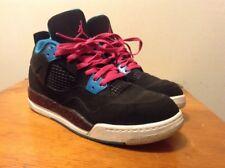 Air Jordan 4 Retro PS Black Vivid Pink Dynamic Blue 487725-019 Youth 3Y Cement