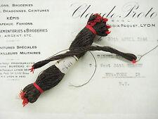 SALE 2 for 1!! Vintage  Antique Dark Bronze French Metallic Thread Fly Tying