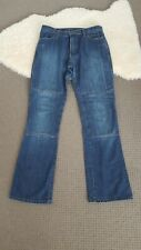 Ladies Draggin Jeans 10 Blue Denim Lined Motorbike/Motorcyle Riding Pants