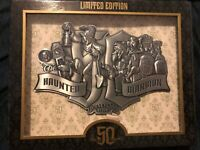 Haunted Mansion 50th Anniversary Jumbo Metal Pin Disney LE500 -Sold Out In Parks