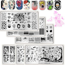 6Pcs BORN PRETTY Nail Stamping Plates Kit Halloween Nail Art Image Templates