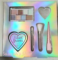 I Heart Revolution I Heart Unicorns Makeup Gift Set, Eyeshadow Highlighter Brush