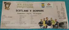 Ticket for collectors * Scotland - Denmark 2011 Glasgow