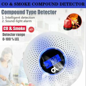 Carbon Monoxide (CO) and Smoke Combination Detector Alarm LED Flash Light Home