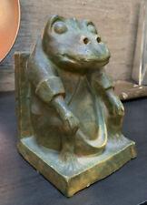 Antique Arts & Crafts Frog Bookend Sculpture Pottery Grueby Weller Hampshire