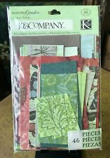 K & Company Engraved Garden Die Cut Scrapbook Scrap Pack