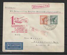 V207) Flugpostbeleg 1930 Katapultflug Dampfer Europa Southhampton