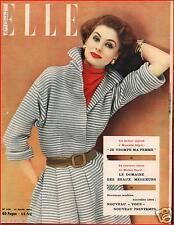 ▬►Elle 329 (1952) Liz Taylor_Brigitte Bardot Mannequin_Mode Fashion Vintage
