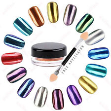 Metallic Chrome Nail Polish Powder Pigment Changing Colours Holographic Effect
