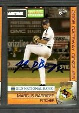 2005 Multi-Ad Gateway Grizzlies #8 Marcus Barriger Card Signed Autograph