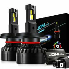 JDM ASTAR 2x 90W T3 6500K White H4 9003 Mini Design LED Headlight High Low Beams