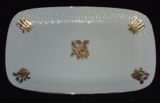Edelstein Bavaria China - Gold Rose Pattern - Rectangular Serving Platter 9 x 15