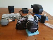 Olympus OM10, Olympus/Zuiko 50mm Lens, Flash, Strap And Case