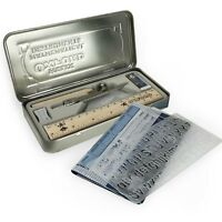 Helix Oxford Vintage Complete and Accurate Maths Set - 10 Piece Set in Metal Tin