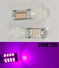 Reverse Backup Light 92 SMD LED Bulb Purple T25 3156 3456 B1 #1 For Buick Mazd