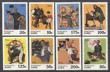 Zaire 1981 Rockwell/Art/Scout/Music 8v set (n21479)
