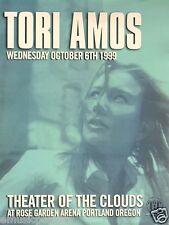 Tori Amos 1999 Portland Concert Tour Poster- Head Shot, Piano & Alternative Rock