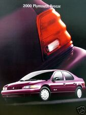 2000 Plymouth Breeze sedan new vehicle brochure